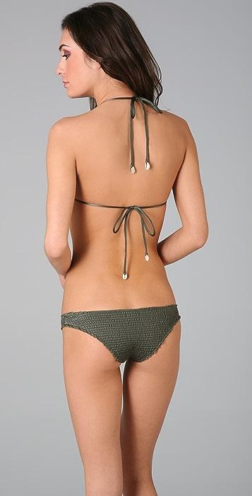 Indah Ahmed Smocked Bikini Top