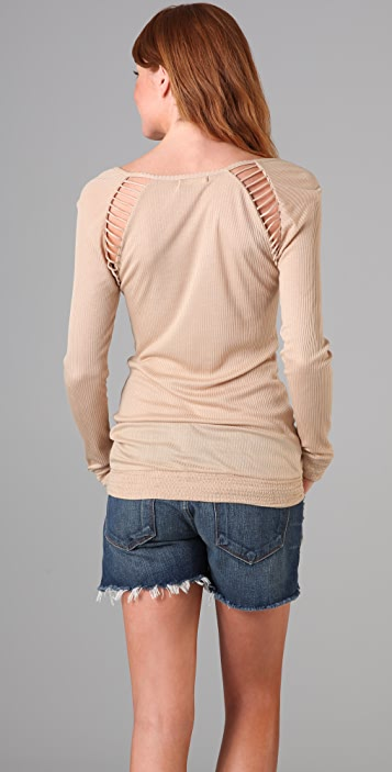 Indah Bette Open Shoulder Tee