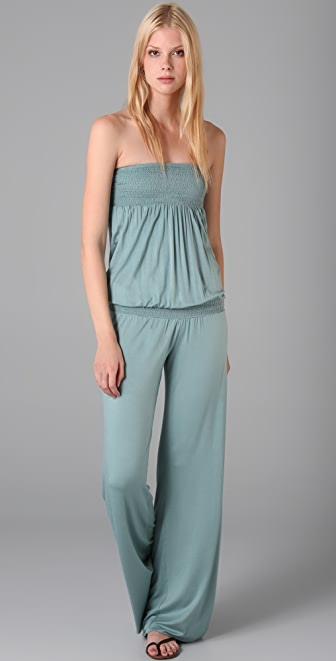 Indah Smocked Strapless Jumpsuit