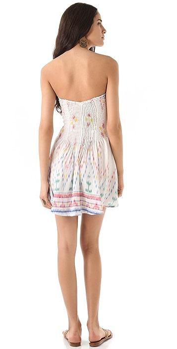 Indah Wren Smocked Strapless Dress
