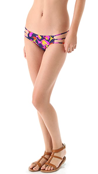 Indah Go Fish Smocked Bikini Bottoms