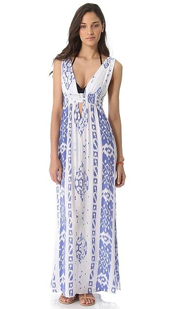 Indah Anjeli Empire Cover Up Maxi Dress