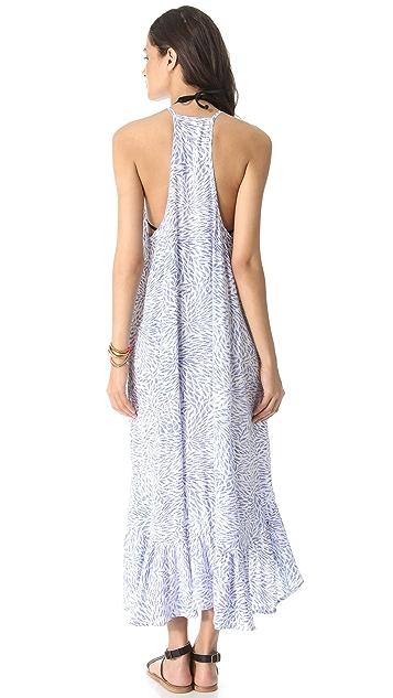 Indah Leyti Ruffle Cover Up Dress