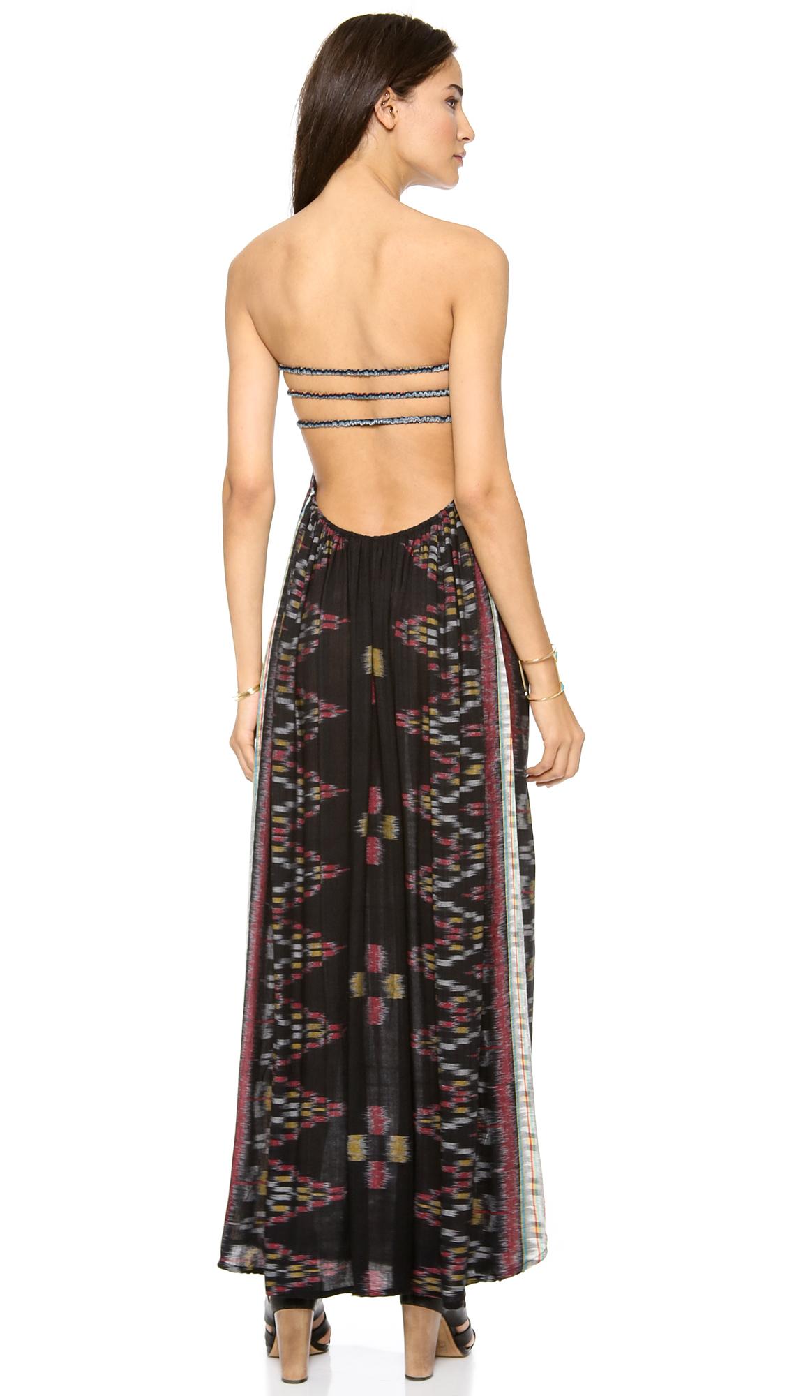 6796f54046c Indah Flamingo Bandeau Maxi Dress