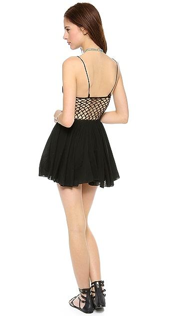 Indah Frankie Crochet Bustier Cocktail Dress