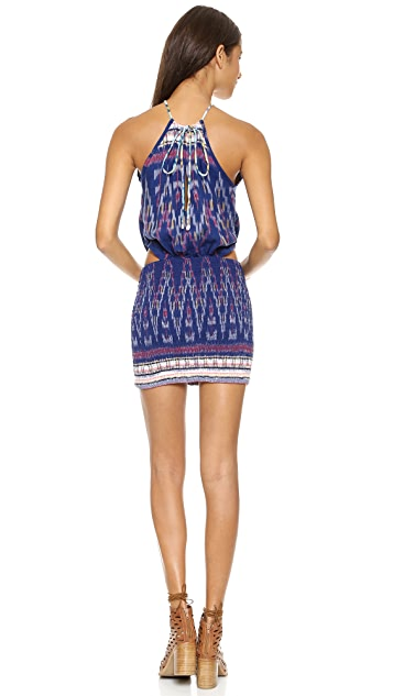 Indah Canoa Cut Away Smock Mini Dress