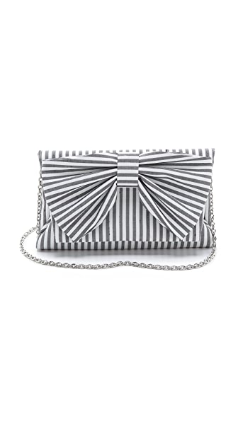 Inge Christopher Silk Stripe Cross Body Bag