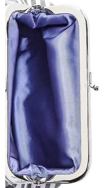 Inge Christopher Silk Stripe Cross Body Bag