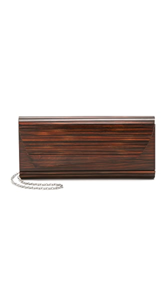 Inge Christopher Zena Dark Wood Clutch