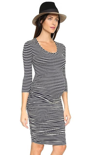 Ingrid & Isabel Striped Maternity Dress