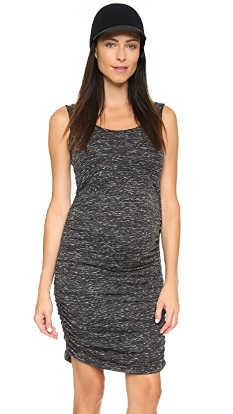 Ingrid & Isabel Marble Shirred Maternity Tank Dress