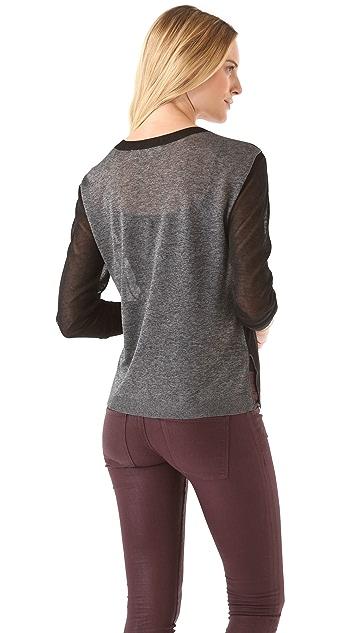 Inhabit Layered Metallic Sweater