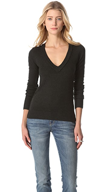 Inhabit V Neck Cashmere Sweater