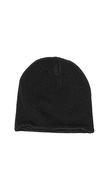 Inhabit Cashmere Checkerboard Reversible Hat
