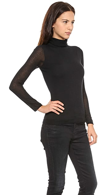 Inhabit Double Turtleneck Cotton Sweater