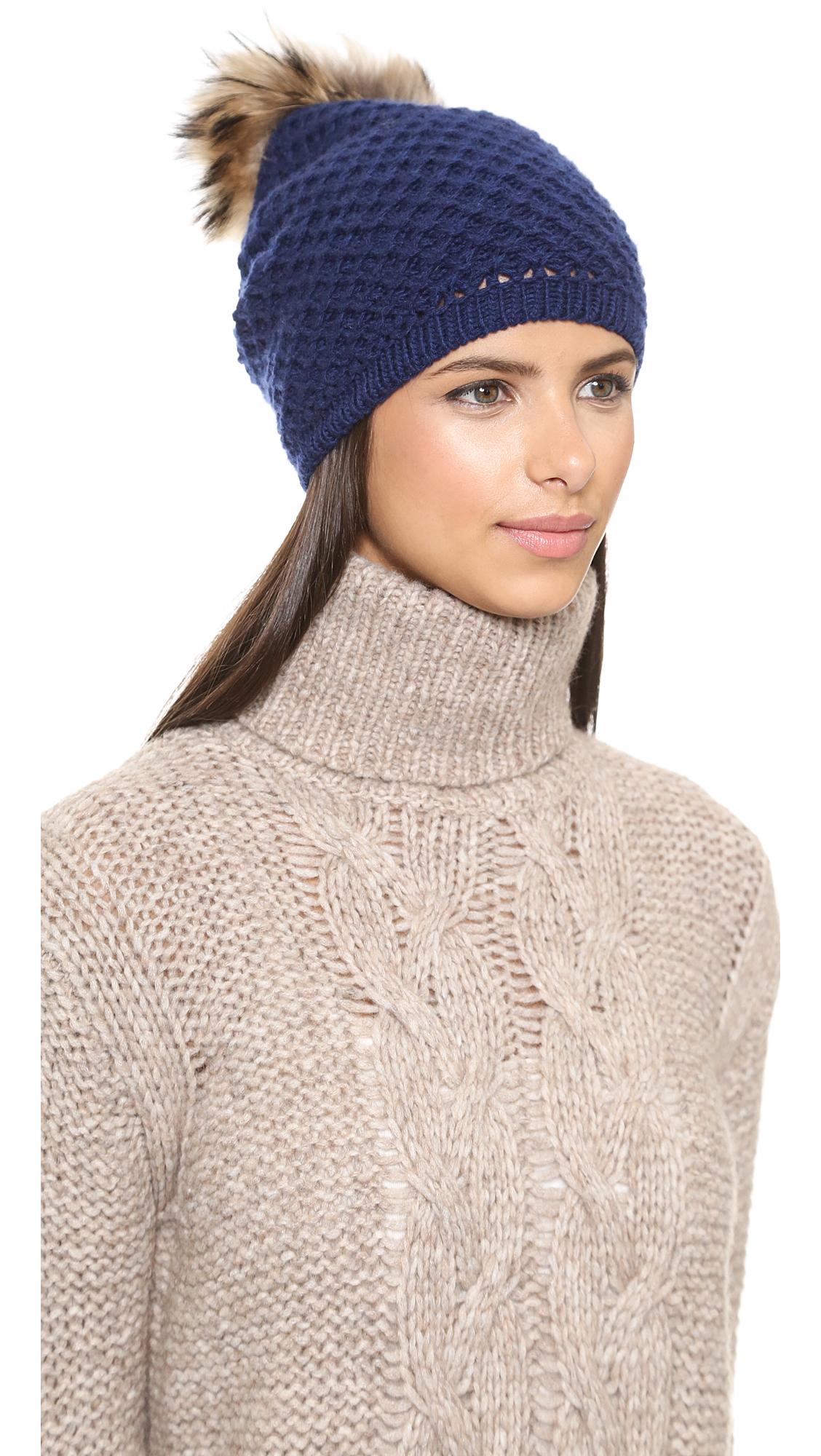 e0dc510ad35 Inverni Slouchy Fur Pom Pom Hat