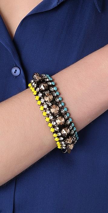 Iosselliani Multi Layer Crystal Bracelet