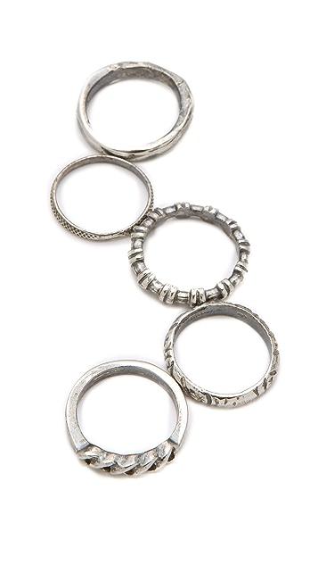 Iosselliani Set of 5 Rings