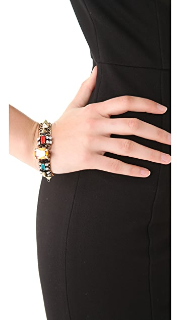 Iosselliani Little Chain Bracelet with Studs