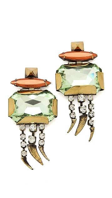 Iosselliani Large Crystal Earrings