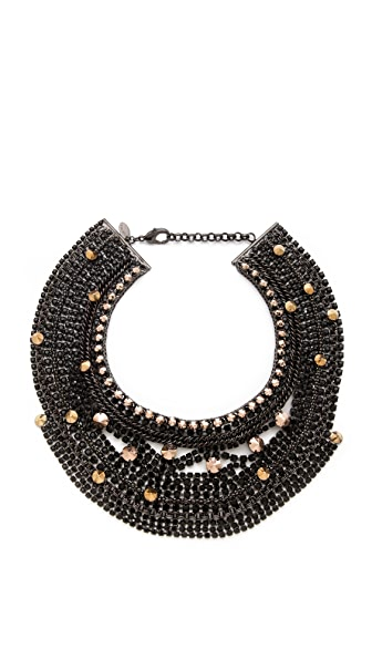 Iosselliani Rhinestones & Studs Statement Necklace