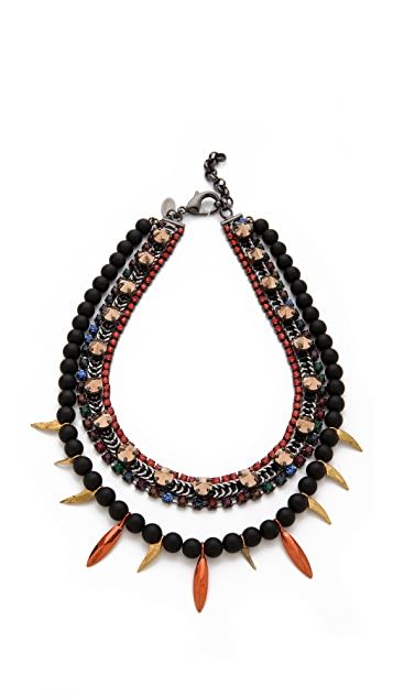 Iosselliani Black Agate Necklace