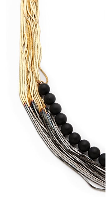 Iosselliani Shaded Necklace with Black Agate