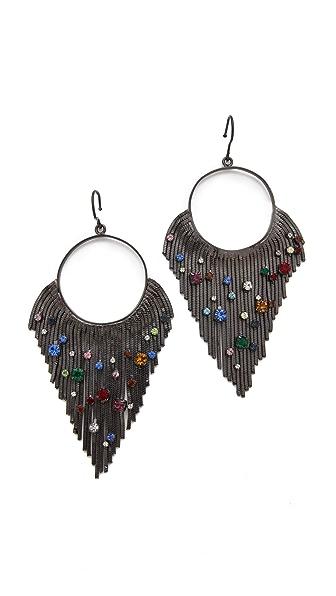 Iosselliani Circular Fringe Earrings