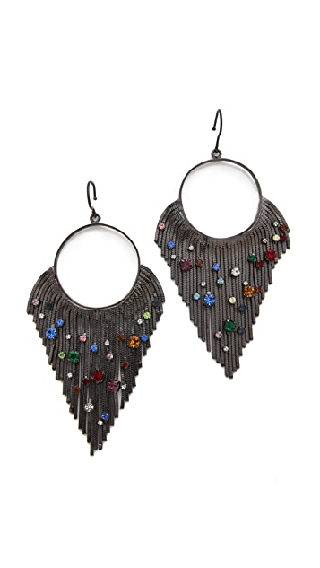 Iosselliani Circular Fringe Earrings
