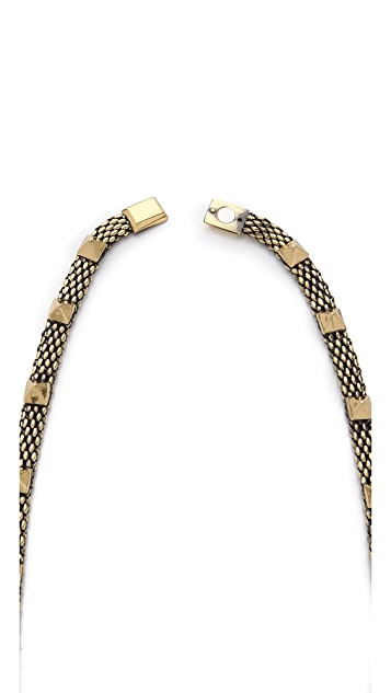Iosselliani Brass & Rhinestone Necklace