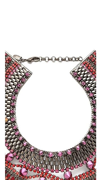 Iosselliani Studded Crystal Bib Necklace