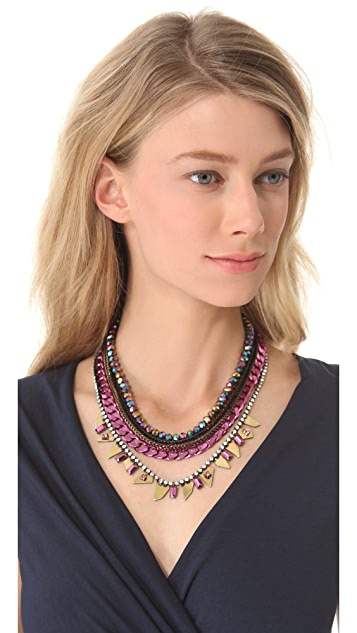 Iosselliani Multi Strand Collar Necklace