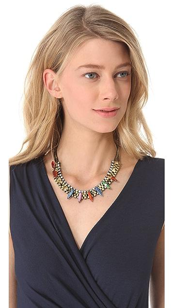Iosselliani Agate & Stone Watch Link Necklace