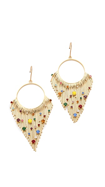 Iosselliani Crystal Encrusted Fringe Earrings