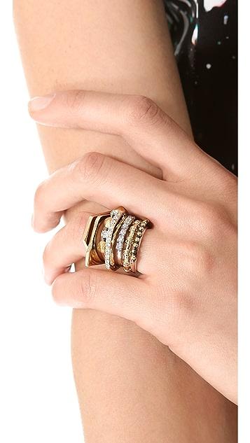 Iosselliani Brass Ring with Studs