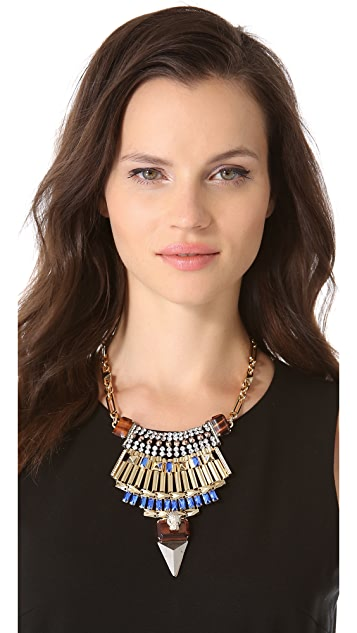 Iosselliani Leopard Head Bib Necklace