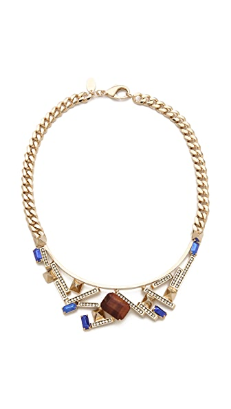 Iosselliani Graphic Brass Necklace