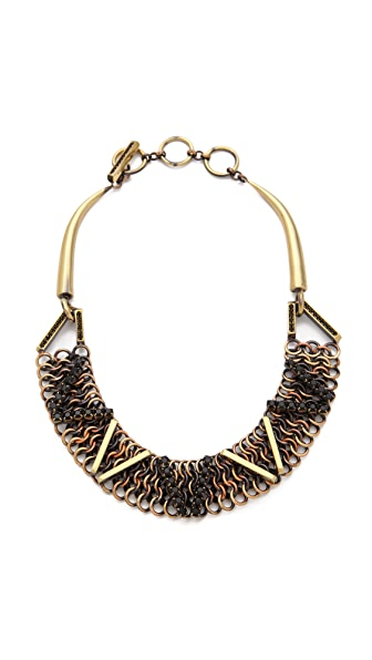 Iosselliani Brass Necklace with Rhinestones