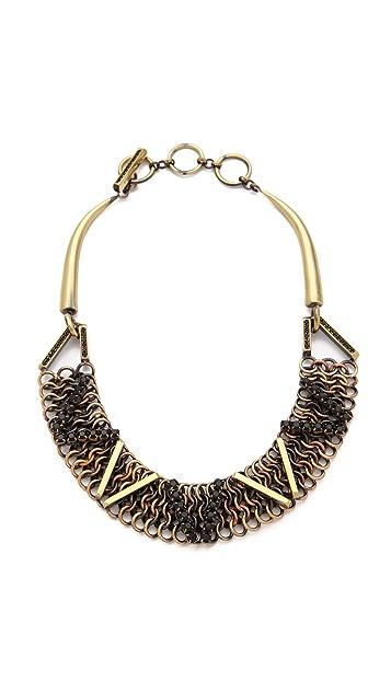 Iosselliani Brass Necklace with Rhinestones