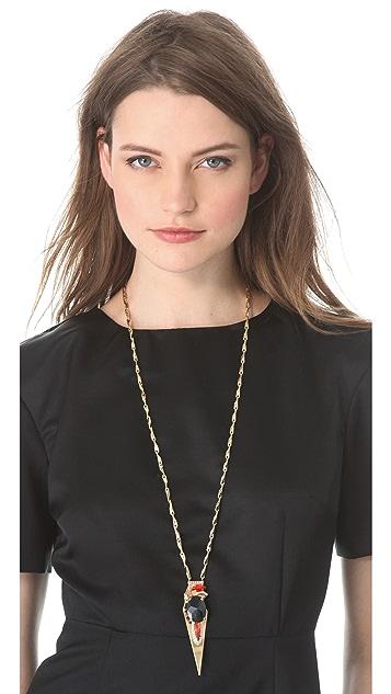 Iosselliani Fused Stone Pendant Necklace