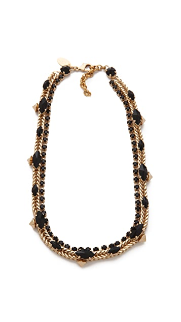 Iosselliani Brass Necklace with Navettes