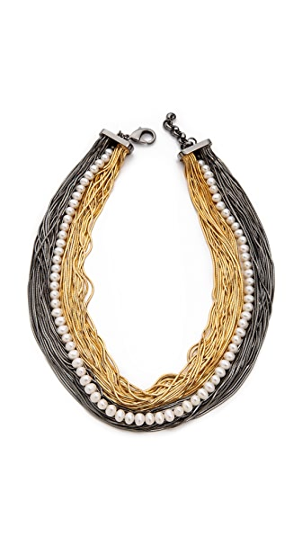 Iosselliani Bicolour Multistrand Necklace