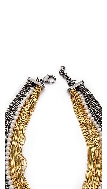 Iosselliani Bicolour Multistrand Necklace