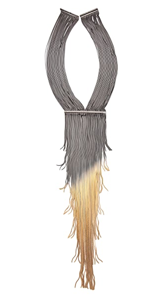 Iosselliani Long Fringed Necklace