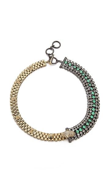 Iosselliani Bi Collar Diamante Necklace