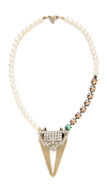 Iosselliani Cultured Freshwater Pearl & Fused Stone Necklace