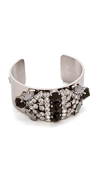 Iosselliani Rhinestone Cuff Bracelet