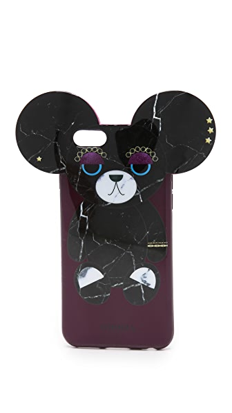 iphoria bear of black marble iphone 6 6s case shopbop. Black Bedroom Furniture Sets. Home Design Ideas