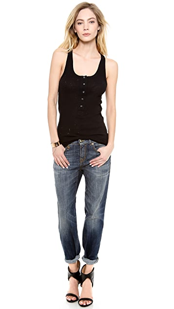 IRO.JEANS Edda Distressed Tank
