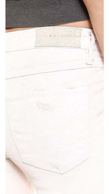 IRO.JEANS Cory Waxed Slouchy Skinny Jeans